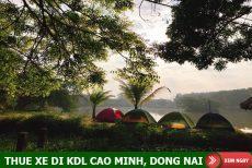 Thuê xe 7 chỗ đi Khu du lịch Cao Minh