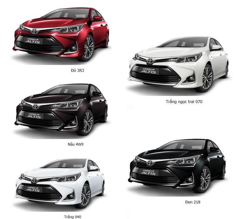 Các màu xe Toyota Corolla Altis giảm mạnh ở một số đại lý trong nước